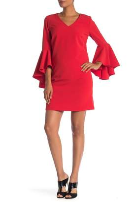Catherine Malandrino V-Neck Bell Sleeve Dress
