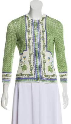 Tory Burch Printed Knit Cardigan