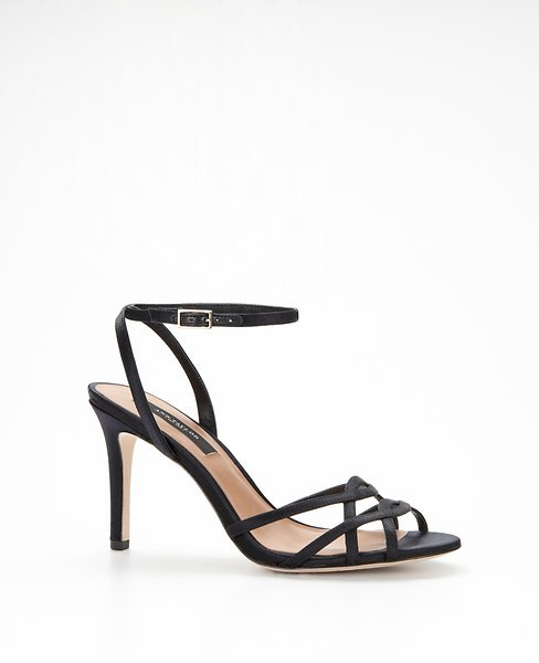Ann Taylor Strappy Satin Sandals