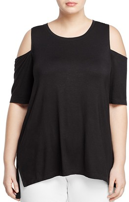 Love Scarlett Plus Cold-Shoulder Top $68 thestylecure.com
