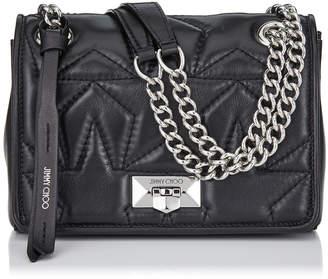 Jimmy Choo HELIA SHOULDER BAG S Ballet Pink Shoulder Bag with Chain Strap e999fae4f6211