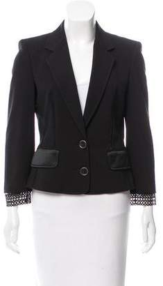Gianfranco Ferre Tailored Mesh-Paneled Blazer