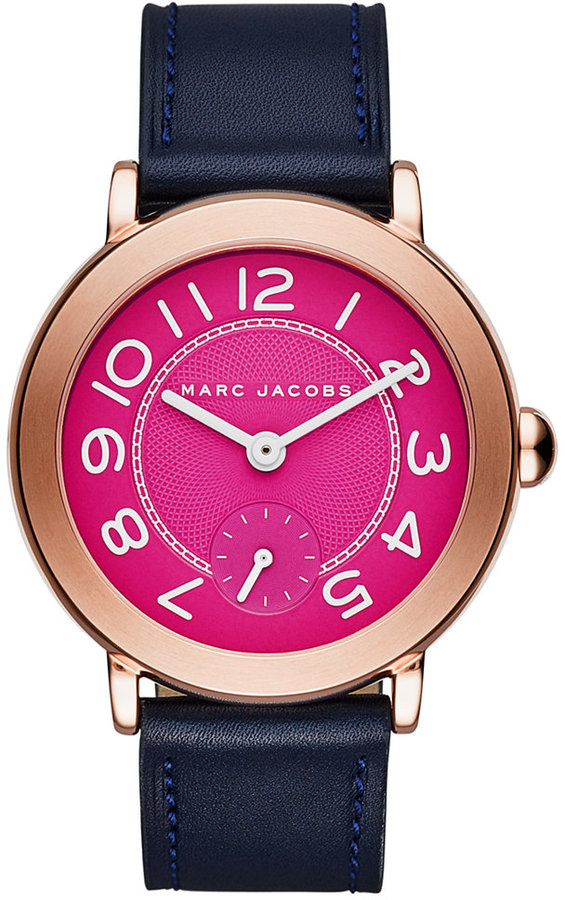 Marc By Marc JacobsMarc by Marc Jacobs Women's Riley Navy Leather Strap Watch 28mm MJ1556