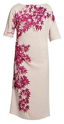 Dries Van Noten Women's Floral Midi Dress