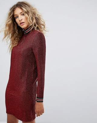 Noisy May High Neck Glitter Dress
