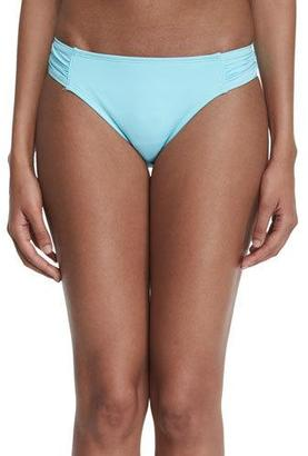 Tommy Bahama Shirred-Side Solid Hipster Swim Bottom $53 thestylecure.com