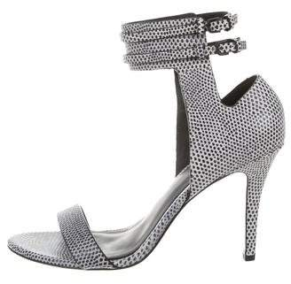 Alexander Wang Lizard Ankle Strap Sandals