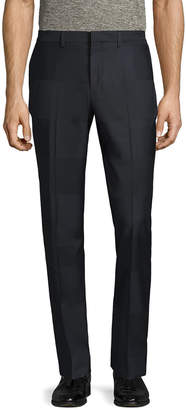 Paul Smith Wool Striped Flat Front Trouser