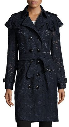 Burberry Stanhill Lace Trench Coat, Navy $2,995 thestylecure.com