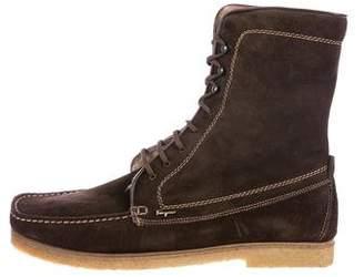 Salvatore Ferragamo Betti 2 Suede Ankle Boots