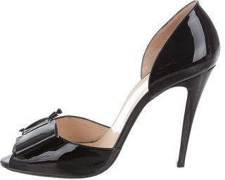 Christian Louboutin Christian Louboutin Bow-Embellished d'Orsay Pumps