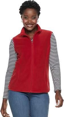 Croft & Barrow Women's Mockneck Fleece Vest