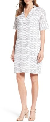 Women's Nic+Zoe Little Lines Linen Shift Dress $188 thestylecure.com