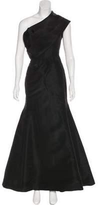 Oscar de la Renta Silk Off-The-Shoulder Gown