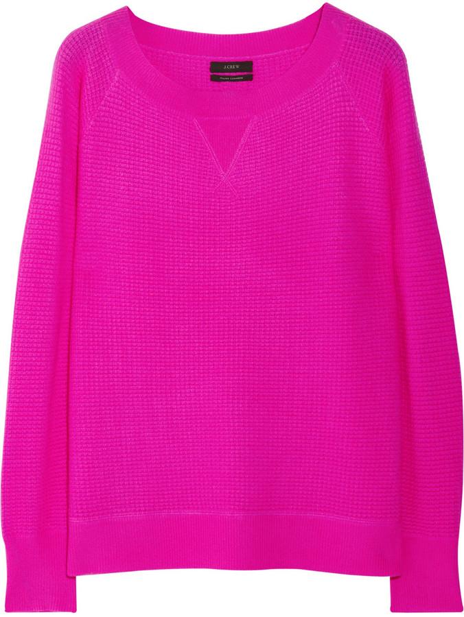 J.Crew Waffle-knit cashmere sweater