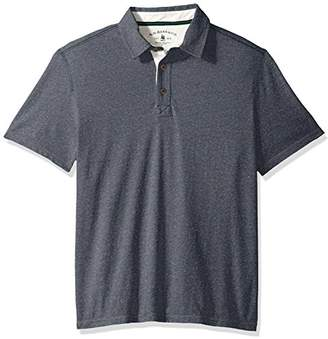 G.H. Bass & Co. Men's Desert Mountain Short Sleeve Heathered Polo