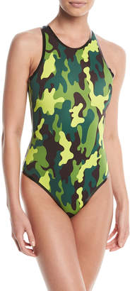 Cardo Paris Cardorider Camo-Print One-Piece Swimsuit