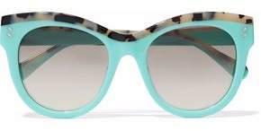 Stella McCartney Cat-Eye Tortoiseshell Acetate Sunglasses