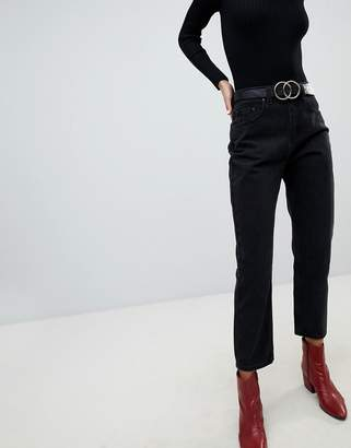 Lost Ink High Waist Jeans In Straight Leg Fit