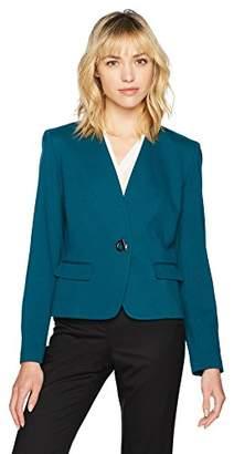 Nine West Women's Ponte 1 Button Jacket