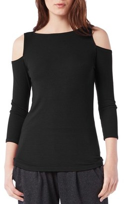 Women's Michael Stars Rib Knit Cold Shoulder Top $78 thestylecure.com