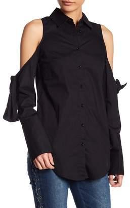 Romeo & Juliet Couture Cold Shoulder Business Blouse