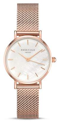 Mother of Pearl Rosefield The Small Edit Mother-of-Pearl Dial Watch, 26mm