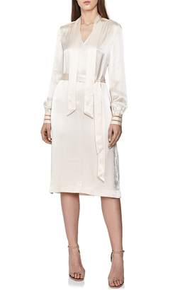 Reiss Ray Satin Shirtdress