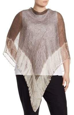 Eileen Fisher, Plus Size Plus Linen Poncho