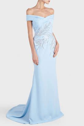 Georges Hobeika Off Shoulder Embellished Gown