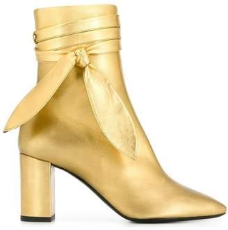Saint Laurent ankle wrap boots