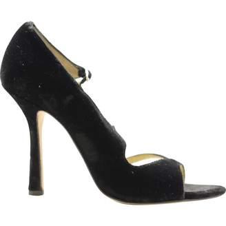 Oscar de la Renta Black Velvet High Heel