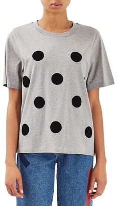 Women's Topshop Boutique Flock Dot Tee $60 thestylecure.com