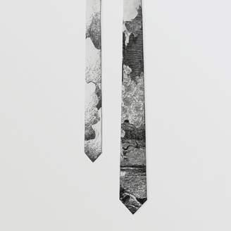 Burberry Slim Cut Dreamscape Silk Jacquard Tie