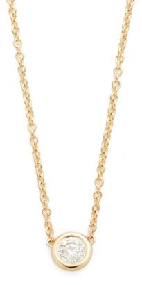 Chicco Zoe 14k Gold Bezel Diamond Short Pendant Necklace