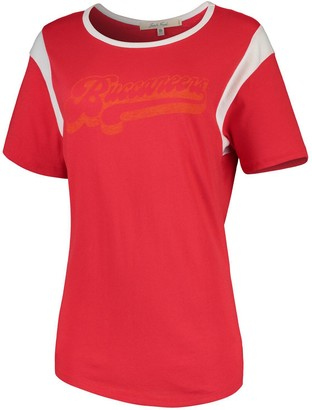 Retro Sport Unbranded Women's Junk Food Red/White Tampa Bay Buccaneers T-Shirt