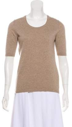 Malo Short Sleeve Cashmere Top