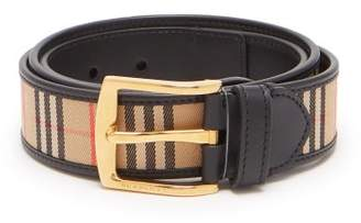 Burberry 1983 Check Reversible Leather Belt - Mens - Black