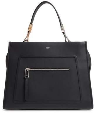 Fendi Runaway Leather Top Handle Satchel