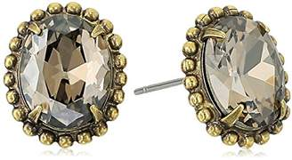 Sorrelli Womens Vivid Horizons Oval-Cut Solitaire Stud Earrings