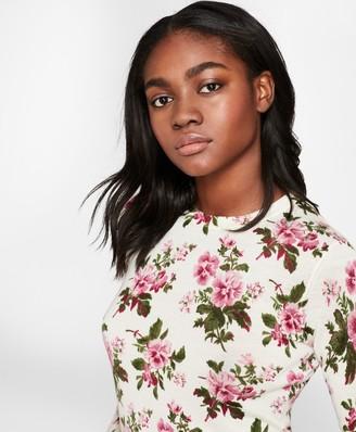 Brooks Brothers Floral-Print Merino Wool Sweater