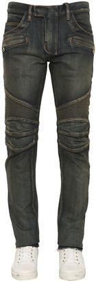 16.5cm Biker Sand Wash Denim Jeans $1,340 thestylecure.com
