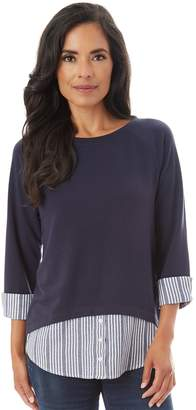 Apt. 9 Women's Mock-Layer Ruched Top