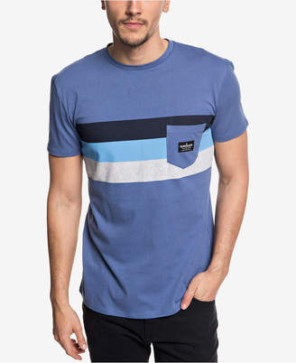Quiksilver Men's Peaceful Progression Stripe Pocket T-Shirt