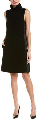 Elie Tahari Wool-Face Sweaterdress