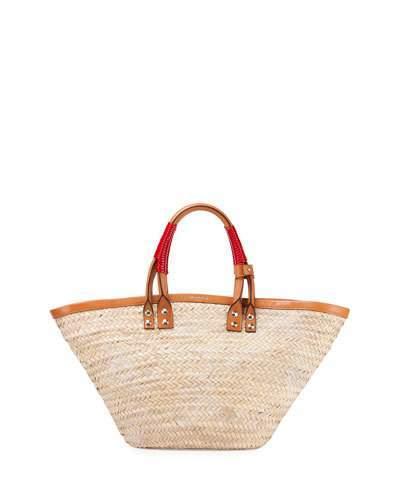 Balenciaga Balenciaga Bistro Panier Small Straw Tote Bag