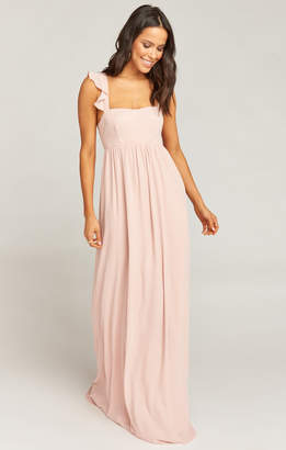 Show Me Your Mumu June Maxi Dress ~ Dusty Blush Crisp