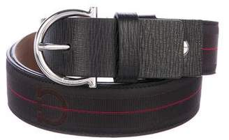 Salvatore Ferragamo Canvas & Leather Belt