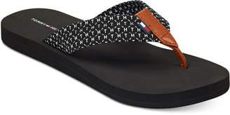 Tommy Hilfiger Cursive Flip Flops Women's Shoes