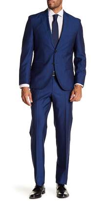 BOSS Johnston's Lenon Medium Blue Two Button Notch Lapel Suit